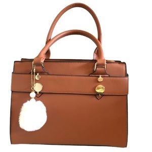 Tan Top Handle Bag Small Tote 👜 New